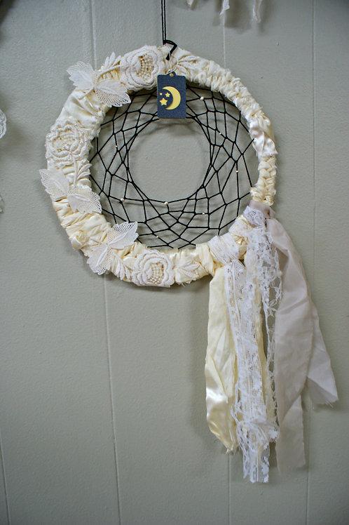 Dream Catcher Made From Vintage Wedding Dress
