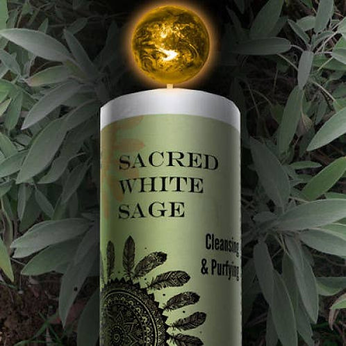 Sacred White Sage Candle
