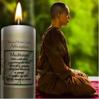 Meditation Pillar Candle
