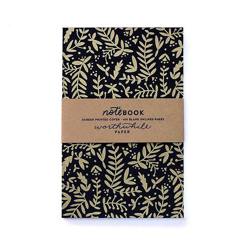Gold Nature Shapes Notebook