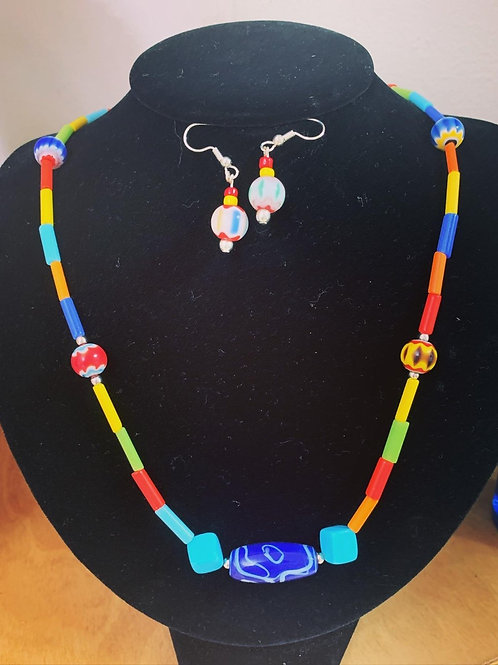 Clay Bead Necklace Set