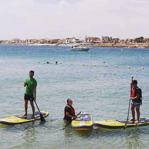 ALQUILER 1 HORA PADDLE SURF