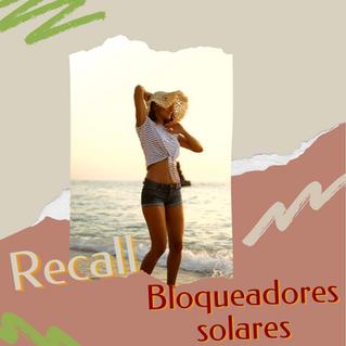 Sunblock Recall