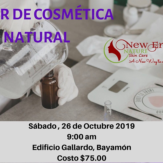 Taller de Cosmética Natural -  Cremas Naturales, Desodorantes & Labiales