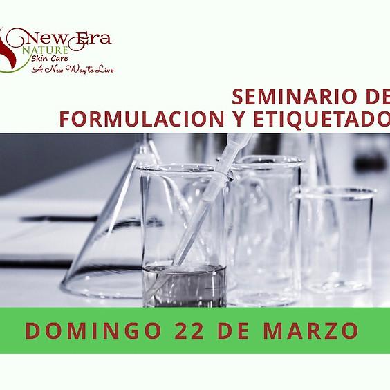 Seminario de Formulación & Etiquetado En Línea  Marzo 22, 2020