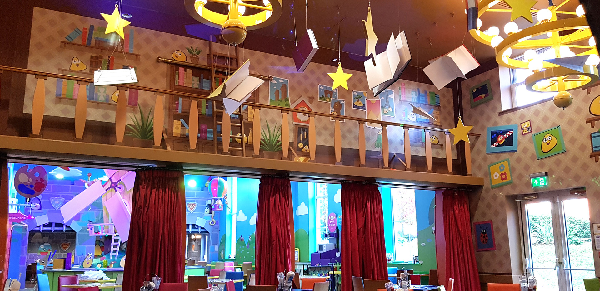 Cbeebies Land Hotel Restaurant Library.j