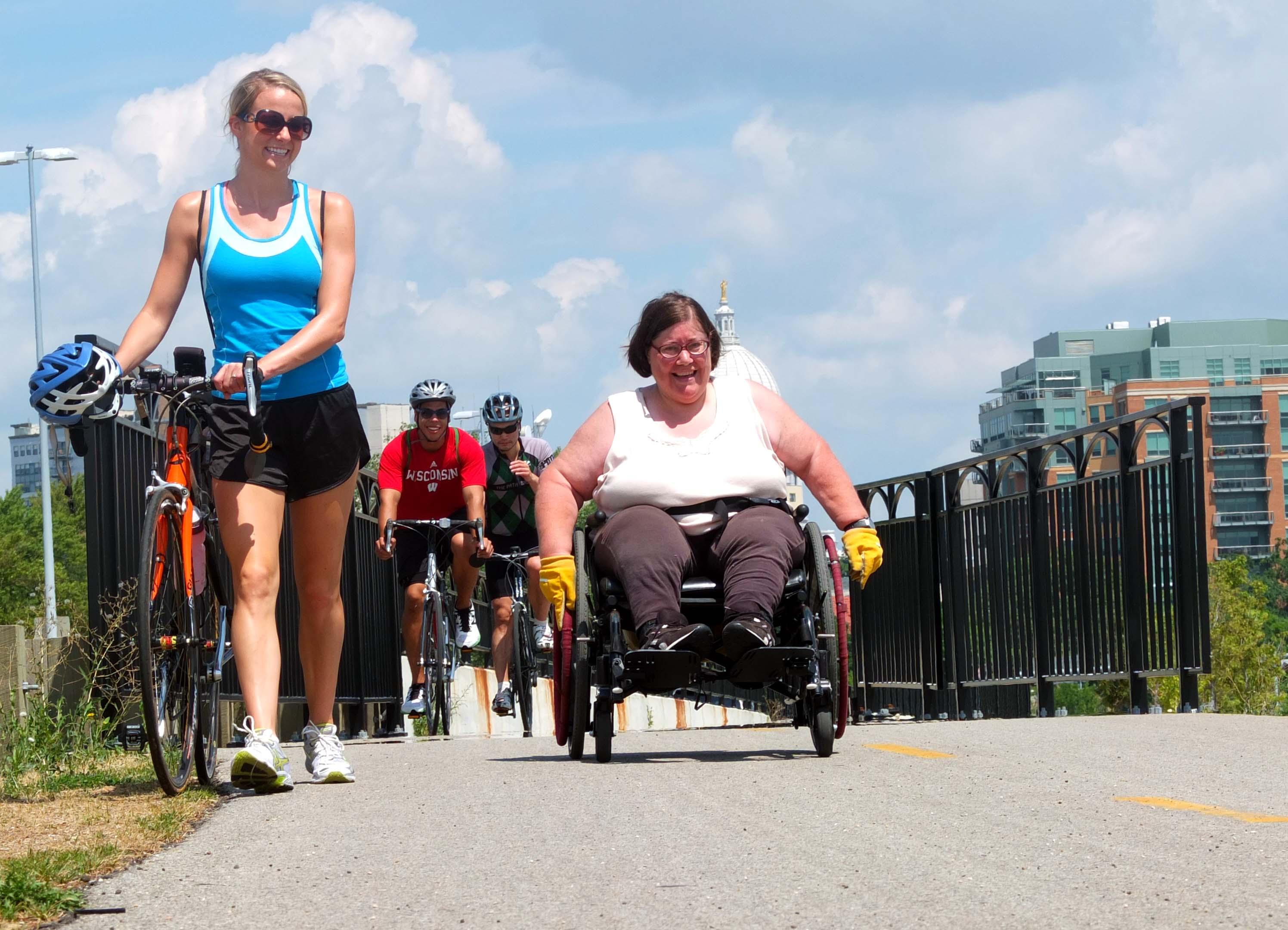 Betty on Walk 'n Roll pushing