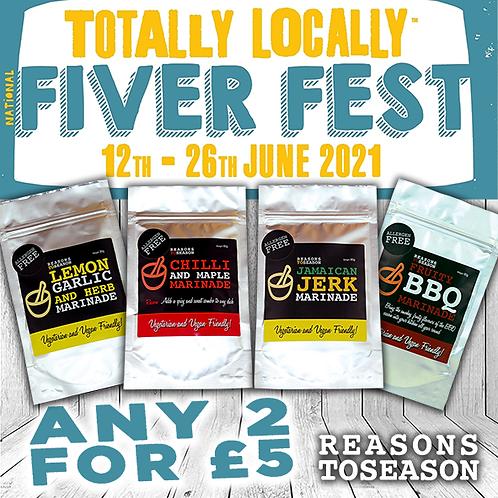 2 RUBS FOR £5 (Fiver Fest Special Offer)