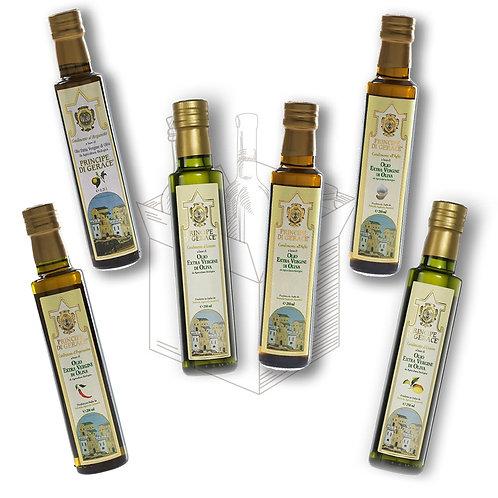 Mediterranea food Box Degustazione di 6 oli aromatizzati da 250ml