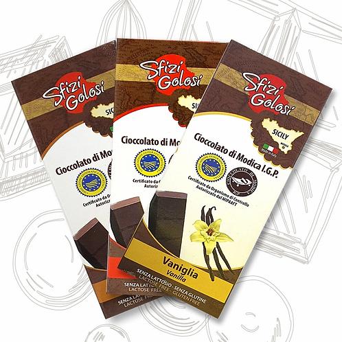 Sfizi Golosi Cioccolato di Modica IGP Tris Spezie 3x100gr