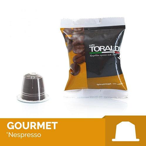 100 Capsule Compatibili Nespresso - Miscela 100% Arabica Toraldo