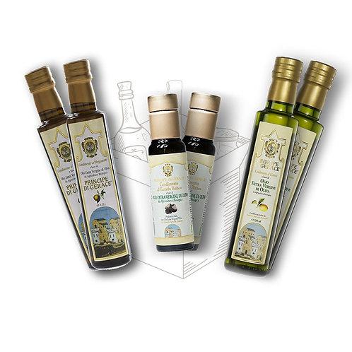 Mediterranea food Box Degustazione di 3 oli aromatizzati da 100ml