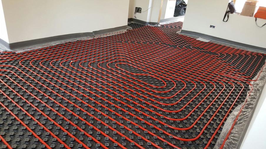 Impianto di riscaldamento con pavimento radiante - Baiano (NA)