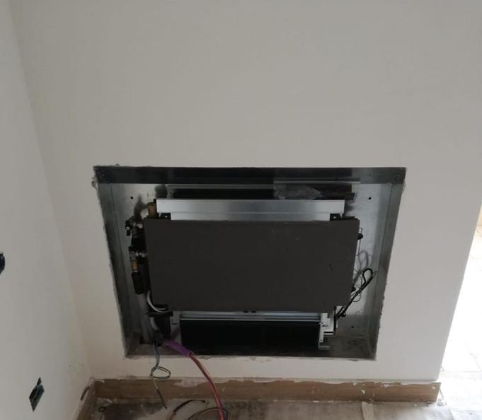 Dettaglio fan-coil da incasso a parete - Piazzolla di Nola (NA)