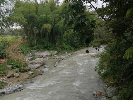 Río Santo Domingo afectado por lluvias