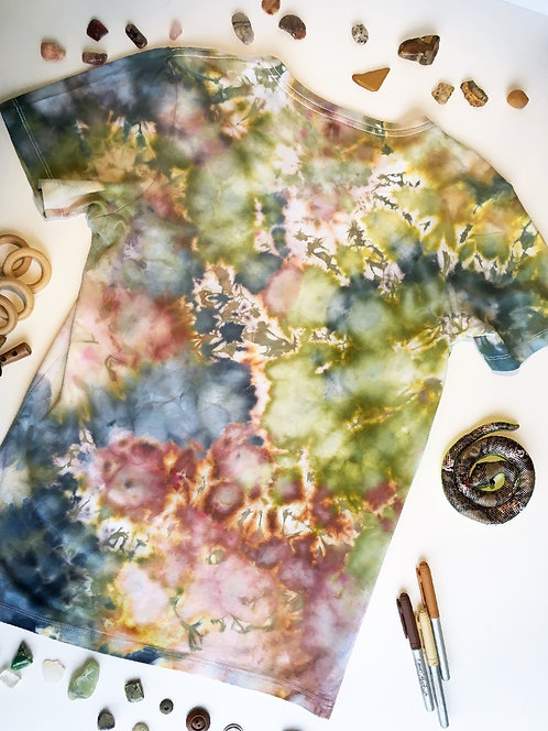 Back view - Size 16 Gum Leaf Scrunch T-Shirt