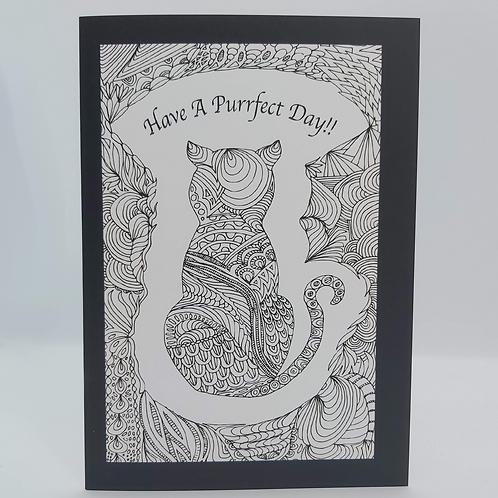 Cat Doodle Greeting Card