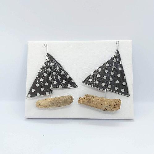 "Polka Dot Boat Canvas 5"" x 7"""