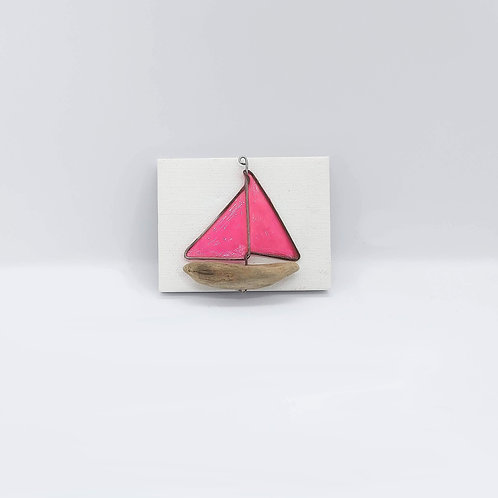 """Pink Boat Canvas 3.5"""""""