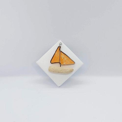 "Orange Boat Canvas 3"""