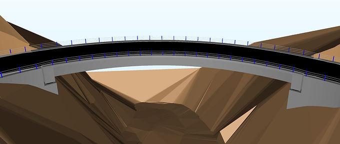 Taller de modelado BIM. Mejoramiento de la carretera hidroeléctrica Machu Picchu en Perú.Puente de Quilcomayo