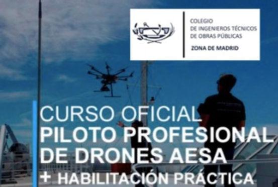 Título oficial de piloto de drones certificado por AESA