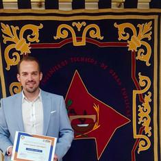Daniel García ha obtenido el primer Premio Manuel Vázquez al Mejor Trabajo Fin de Grado