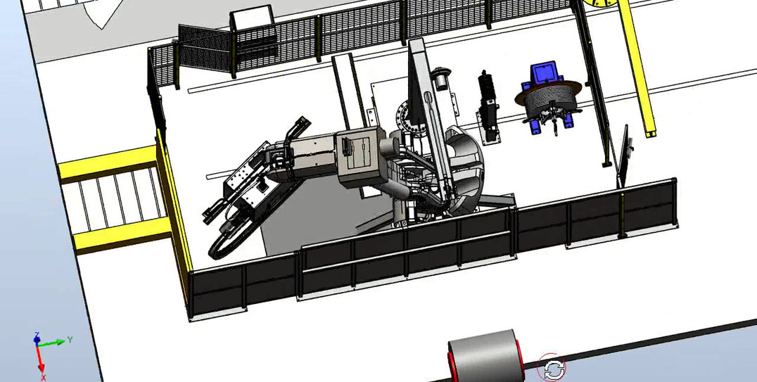 3D Concept of Steel Coil Strapping Robot