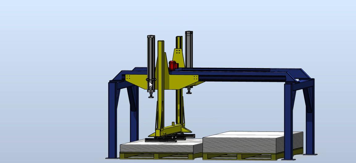 3D Concept of Plastic Sheet Handling System