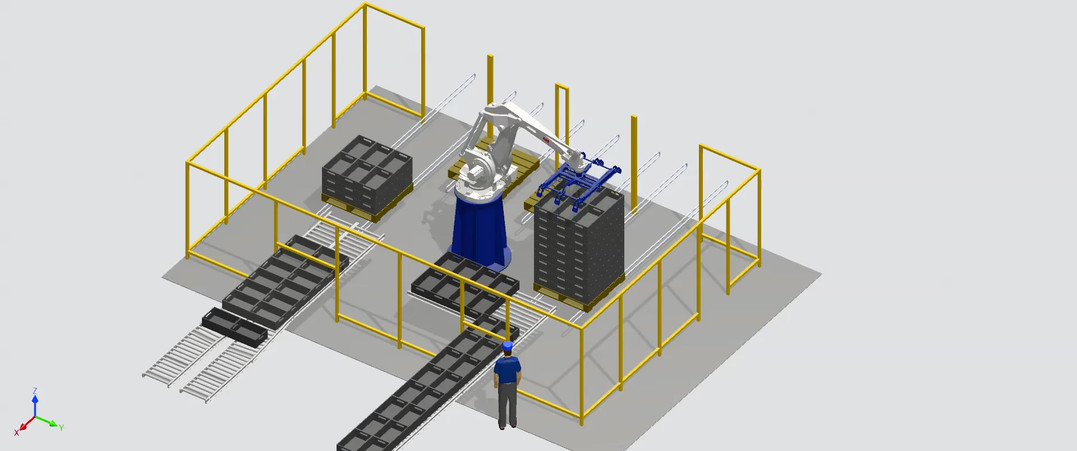 3D Concept of Grower Crate Loading/Unloading Robot