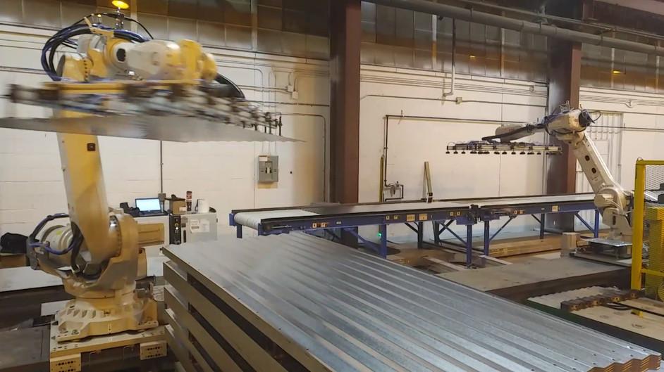 Steel Sheet Handling Robot Cell