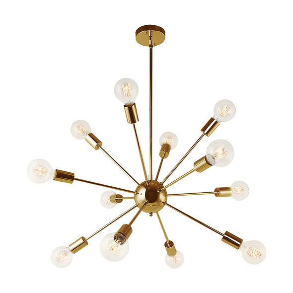 Contemporary Glass Globe Sputnik Chandelier