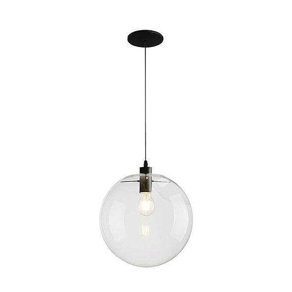 Contemporary 1-light Glass Globe Pendant Light