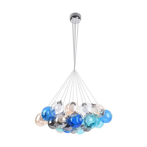 Modern Multi-Color Cluster Bubble Chandelier