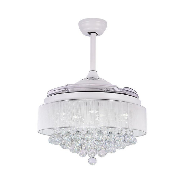 Contemporary LED Crystal Ceiling Fan