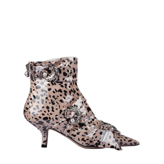 FELINA KITTEN BOOTIE WITH SILVER MOONS AND PEARLS