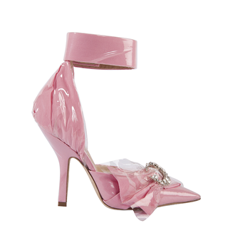CORSET ANKLE IN PINK COTTOPEARLN WITH CRYSTAL MOON AND