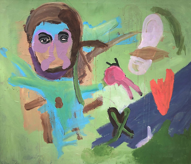 Hanif By The Pond 2020 acrlic on canvas