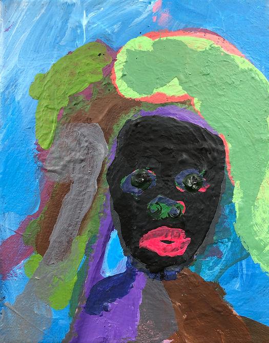 Mount Zion 2020 acrylic on canvas 10 x 8