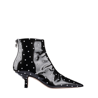 BLACK AND PEARL STUDS KITTEN BOOTIE