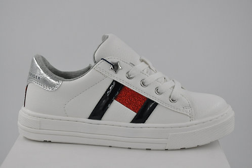 LOW CUT LACE UP SNEAKER WHITE/MULTI TOMMY HILFIGER