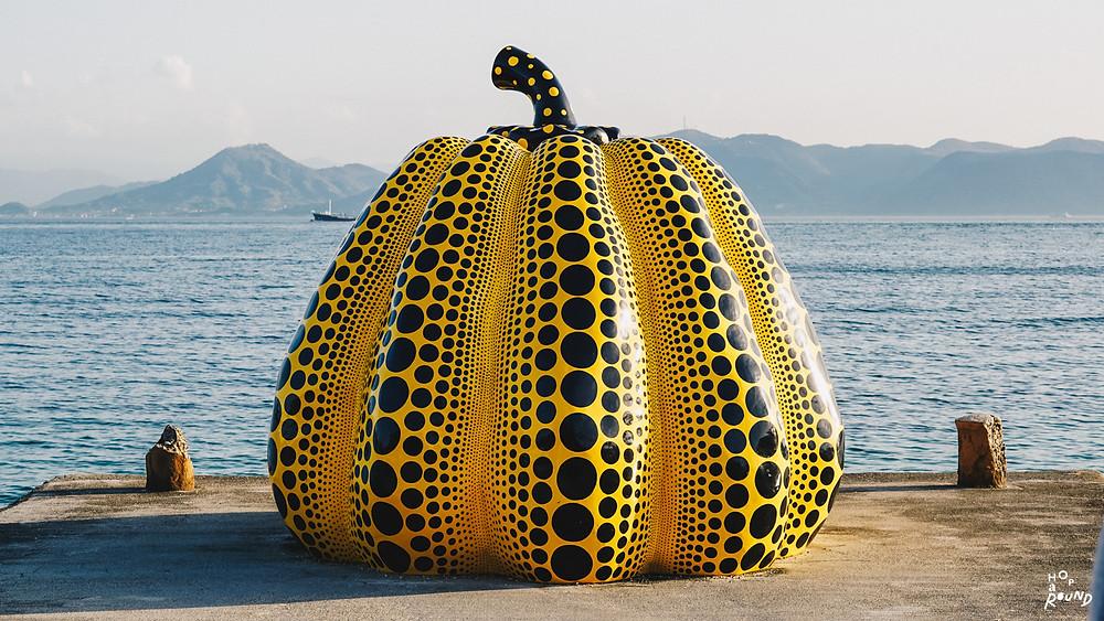 """Yayoi Kusama """"Yellow Pumpkin"""""""