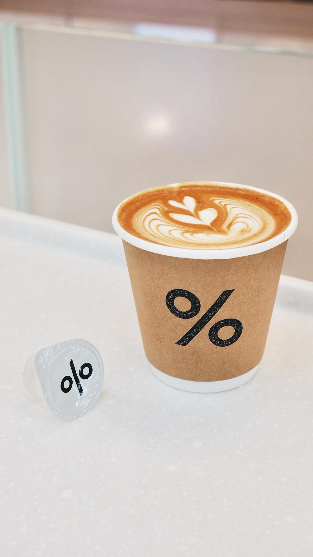 Caffe Latte (Hot) 145.- (8oz)