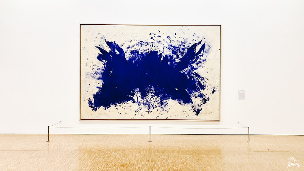 "Yves Klein, ""ANT 76, Grande anthropophagie bleue"