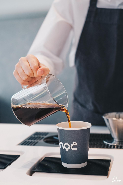 Pourover 160.-  เราเลือกเมล็ดกาแฟของไทย จากเชียงใหม่ รสชาติจะออก chocolate ผสมกล้วยตากนิดๆ Noc coffee