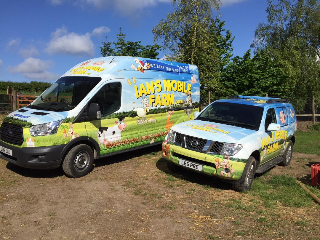 Ians mobile farm vehicle wrap
