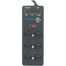 15A AC Surge Strip 6 outlet 2X3 block with Extreme Voltage Shutdown, Metal Chassis, 15Ft Cord.