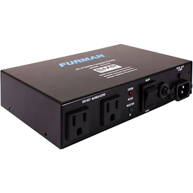 10A Two Outlet Power Conditioner 10 Amp compact power conditioner with auto-resetting voltage protection.