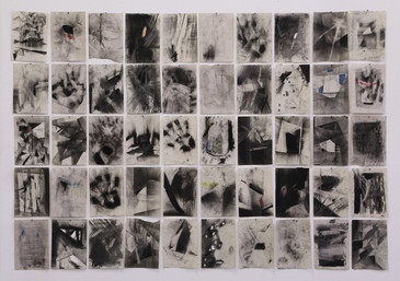 Charcoal & Pencil on Newsprint. 50 x 10,5cm x 14,5cm. 2014.