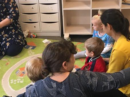 13 октября, первый день в нашем Клубе общения детей и родителей!